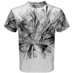 High Detailed Resembling A Flower Fractalblack Flower Men s Cotton Tee