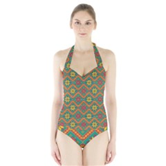 Folklore Halter Swimsuit