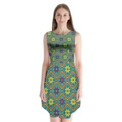 Folklore Sleeveless Chiffon Dress