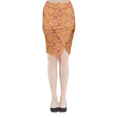 Folklore Midi Wrap Pencil Skirt