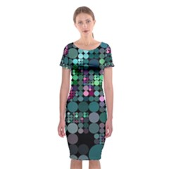 Color Party 03 Classic Short Sleeve Midi Dress