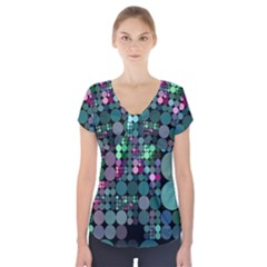 Color Party 03 Short Sleeve Front Detail Top