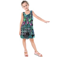 Color Party 03 Kids  Sleeveless Dress