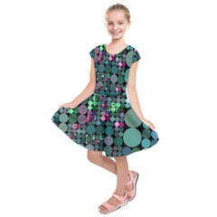 Color Party 03 Kids  Short Sleeve Dress