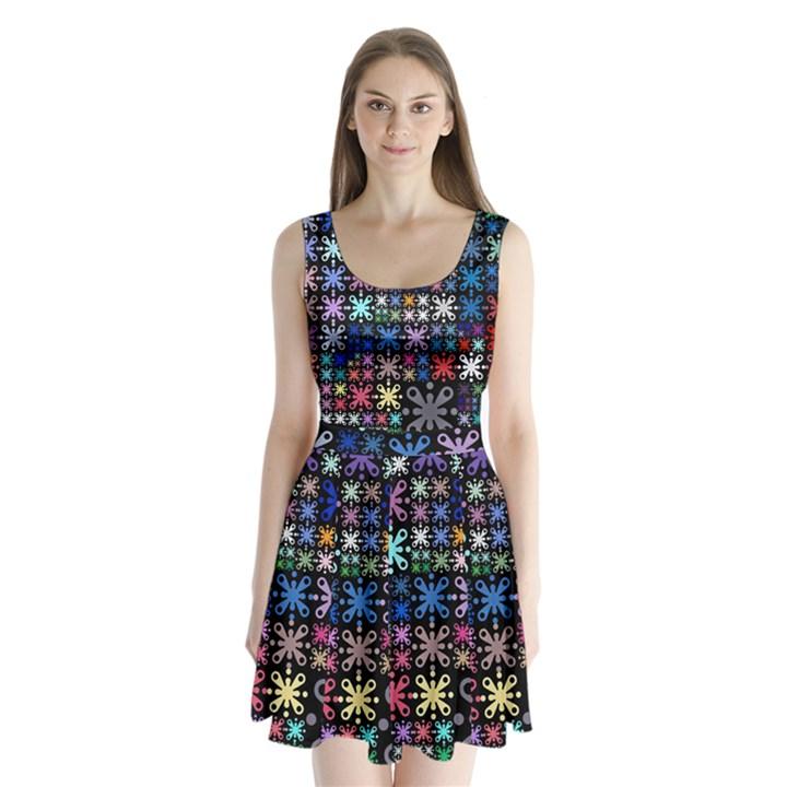 Color Party 01 Split Back Mini Dress
