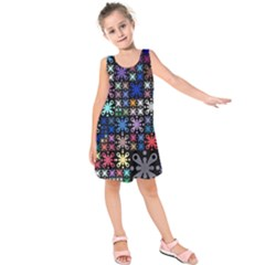 Color Party 01 Kids  Sleeveless Dress