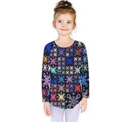 Color Party 01 Kids  Long Sleeve Tee