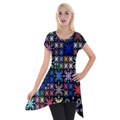 Color Party 01 Short Sleeve Side Drop Tunic