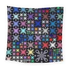 Color Party 01 Square Tapestry (large)