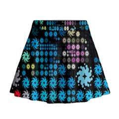 Color Party 02 Mini Flare Skirt