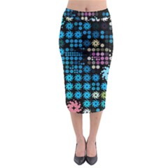 Color Party 02 Midi Pencil Skirt