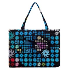 Color Party 02 Medium Zipper Tote Bag