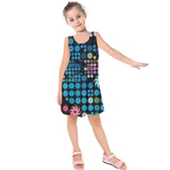 Color Party 02 Kids  Sleeveless Dress