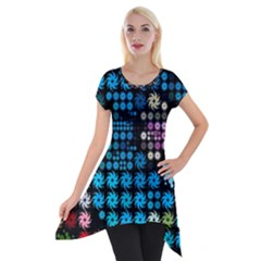 Color Party 02 Short Sleeve Side Drop Tunic