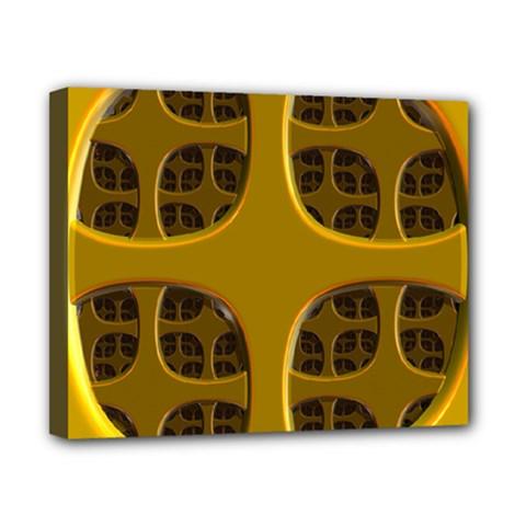 Golden Fractal Window Canvas 10  x 8