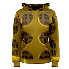 Golden Fractal Window Women s Pullover Hoodie