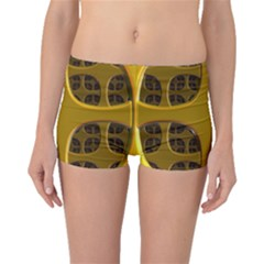 Golden Fractal Window Boyleg Bikini Bottoms