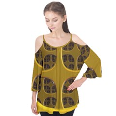 Golden Fractal Window Flutter Tees