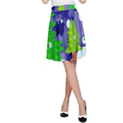 Christmas Trees And Snowy Landscape A-Line Skirt