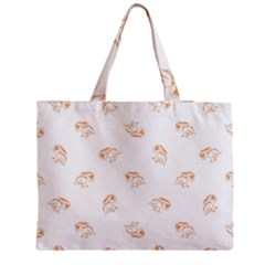 Birds Sketch Pattern Medium Zipper Tote Bag