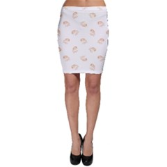 Helpless Bird Sketch Seamless Pattern Bodycon Skirt