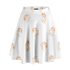 Helpless Bird Sketch Seamless Pattern High Waist Skirt