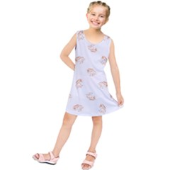 Helpless Bird Sketch Seamless Pattern Kids  Tunic Dress