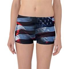 Grunge American Flag Background Reversible Bikini Bottoms