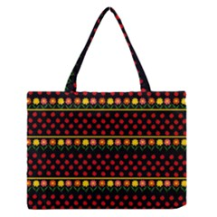 Ladybugs and flowers Medium Zipper Tote Bag