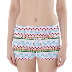 Ladybugs and flowers Boyleg Bikini Wrap Bottoms