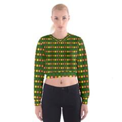 Flowers Women s Cropped Sweatshirt
