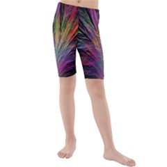 Fractal In Many Different Colours Kids  Mid Length Swim Shorts