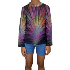 Fractal In Many Different Colours Kids  Long Sleeve Swimwear