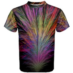 Fractal In Many Different Colours Men s Cotton Tee