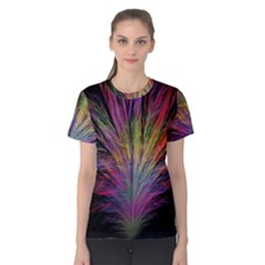 Fractal In Many Different Colours Women s Cotton Tee