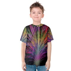Fractal In Many Different Colours Kids  Cotton Tee