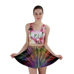 Fractal In Many Different Colours Mini Skirt