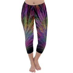 Fractal In Many Different Colours Capri Winter Leggings