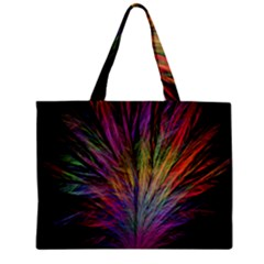 Fractal In Many Different Colours Zipper Mini Tote Bag