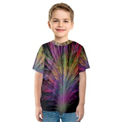 Fractal In Many Different Colours Kids  Sport Mesh Tee