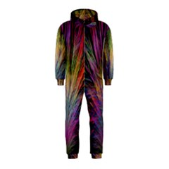 Fractal In Many Different Colours Hooded Jumpsuit (Kids)