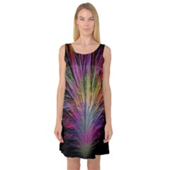 Fractal In Many Different Colours Sleeveless Satin Nightdress
