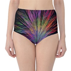 Fractal In Many Different Colours High-Waist Bikini Bottoms