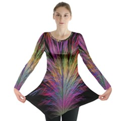 Fractal In Many Different Colours Long Sleeve Tunic