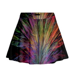 Fractal In Many Different Colours Mini Flare Skirt