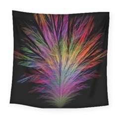 Fractal In Many Different Colours Square Tapestry (large)