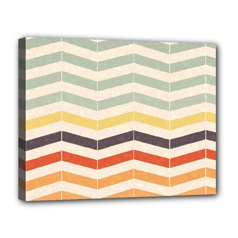 Abstract Vintage Lines Canvas 14  x 11