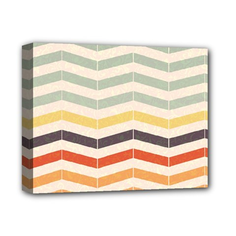 Abstract Vintage Lines Deluxe Canvas 14  x 11