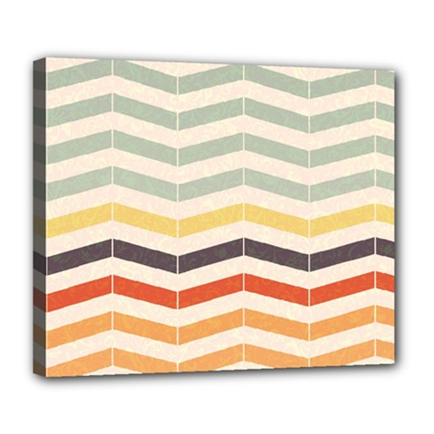 Abstract Vintage Lines Deluxe Canvas 24  x 20
