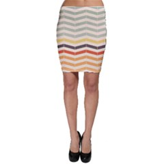 Abstract Vintage Lines Bodycon Skirt